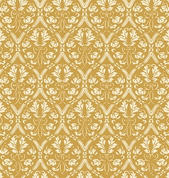Seamless floral damask background antique vector