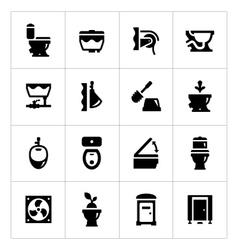 Set icons toilet vector
