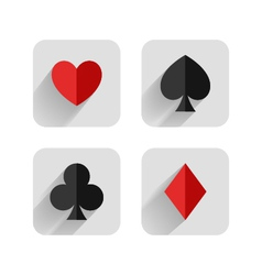 Set of hearts clubs spades and dimonds icons ca vector