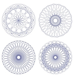 Set of ornament rosettes vector