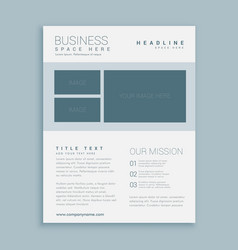 Simple business brochure flyer design template vector