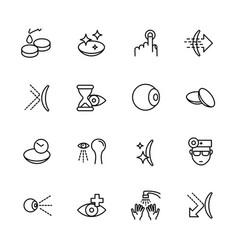 simple icon set vision eyesight ophthalmology vector image