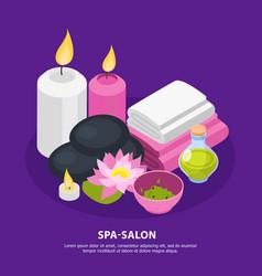 Spa salon isometric background vector