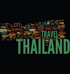 Thailand is their land text background word cloud vector