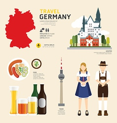 travel concept germany landmark flat vector image