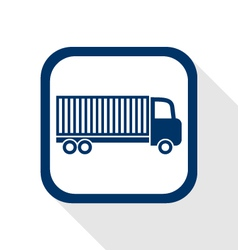 Truck flat icon vector
