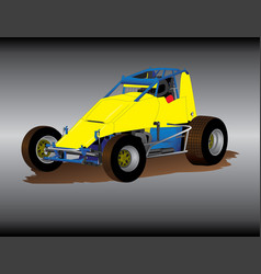 Wingless sprint car vector