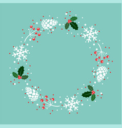 winter xmas background decoration vector image
