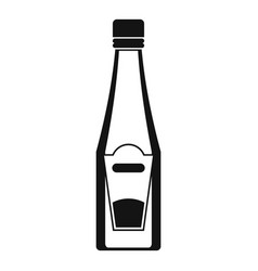 bottle of ketchup icon simple style vector image vector image