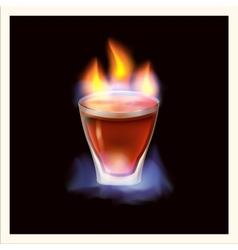 Burning drink - vector image