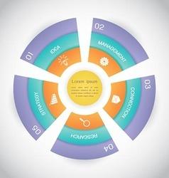 Business Circle Step Diagram Presentation vector image vector image