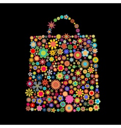 flower bag vector image vector image
