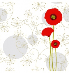 springtime poppy vector image vector image
