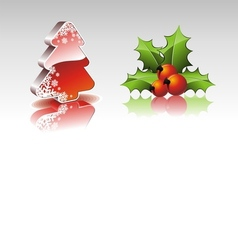 christmas collection with 3d elements vector image vector image
