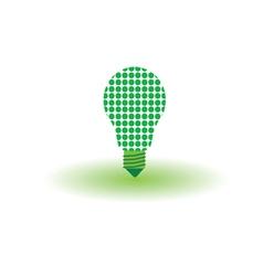 eco bulb green vector image vector image