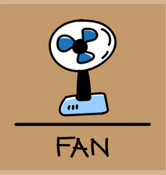fan hand-drawn style vector image vector image