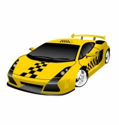 Fantastic taxi vector