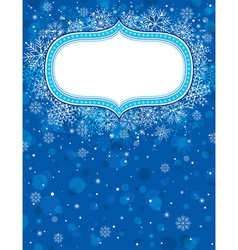 blue christmas background with christmas elements vector image vector image