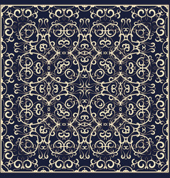 blue handkerchief with colorful ornament vector image vector image