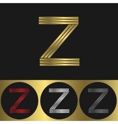 Z Letter logo vector image vector image
