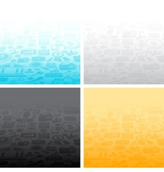 Abstract backgrounds of the business icons vector image