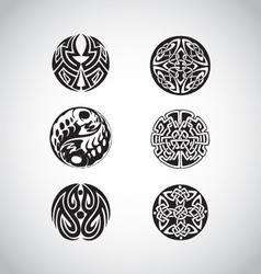 celtic circular designs vector image vector image