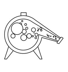 distillation flask chemistry vector image vector image