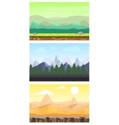 Fantasy Game Design Landscapes Set vector image