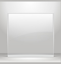 Glass frame for images and advertisement vector image