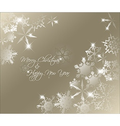 golden abstract Christmas background vector image vector image