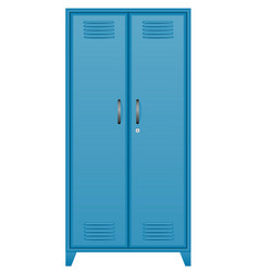 metallic lockers stock vector image