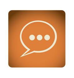 orange emblem chat bubble icon vector image vector image