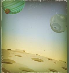 scifi grunge alien planet background vector image vector image