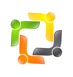 Abstract logo depicting the stylized people who vector
