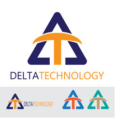 abstract logo design technology and manufacturing vector image