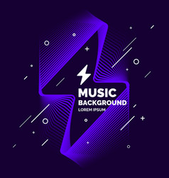 abstract music background in a flat minimalistic vector image