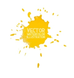 Abstract watercolor aquarelle hand drawn yellow vector image