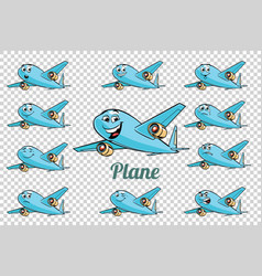 airplane plane airliner aviation emotions vector image