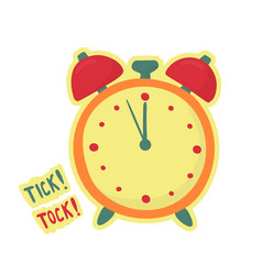 alarm clock make tick tock last minute symbol vector image