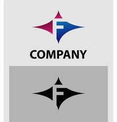 Alphabetical Logo Design Concepts Letter F vector image