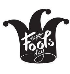 April fools day text design calligraphy vector