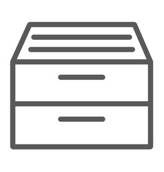 archive storage line icon office and work folder vector image