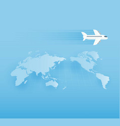 Around the world travelling by plane vector