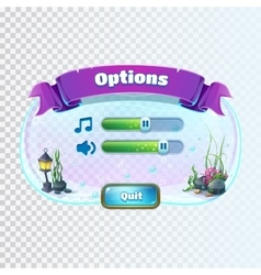 Atlantis ruins - volume options window vector