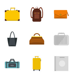 Bags for all occasions icon set flat style vector