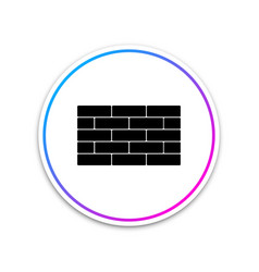bricks icon isolated on white background circle vector image
