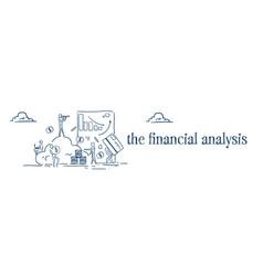 Business cloud storage financial graphs internet vector