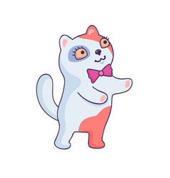cartoon style sticker vector image