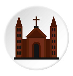 Catholic church icon circle vector