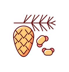 Cedar and pine tree pollen rgb color icon vector
